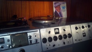 On assignment at Frank Sinatra's Palm Springs home. This is The Chairman's Stereo