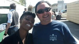 Groman hangs with Morcheeba's Skye