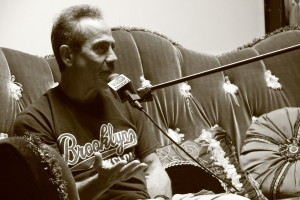 Larry Thomas aka The Soup Nazi on the couch. Photo Credit: Denim Dan