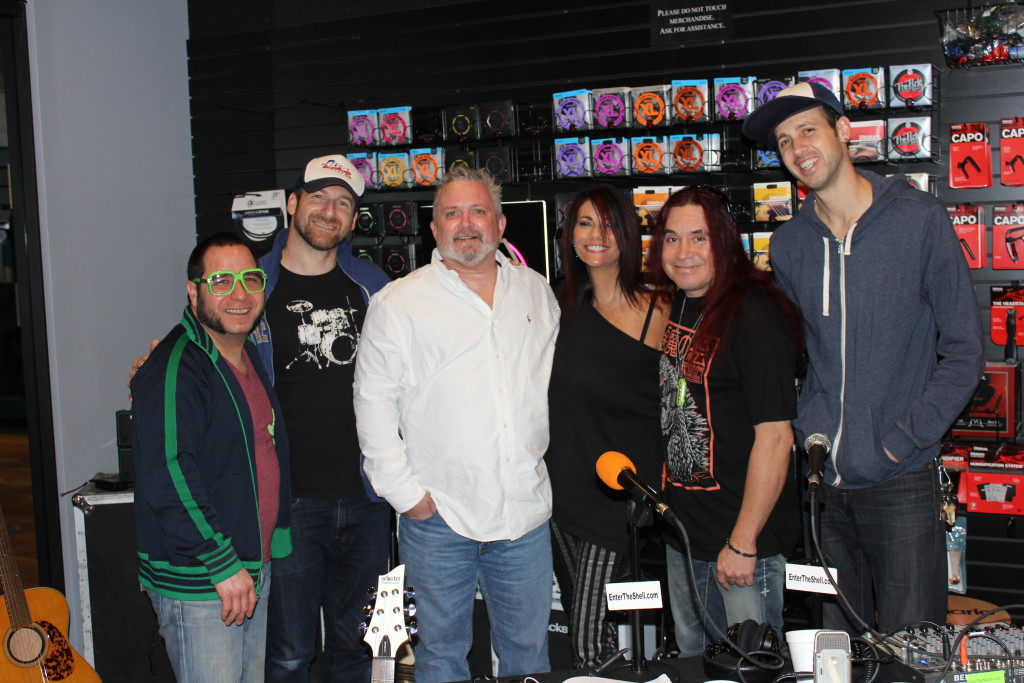 "(PicturedL-R) Turrtle,""Matty Maracas"", Doug Goldstein, Max, Ronny North and ""Jonny Jingles"""