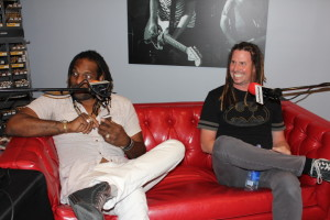 Dahniel Knight & Dennis Morehouse sit in on the red couch as they talk to Tortoise and Hare